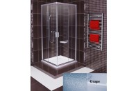 Blix - Cabina dus rectangulara 100 Saten/Grape